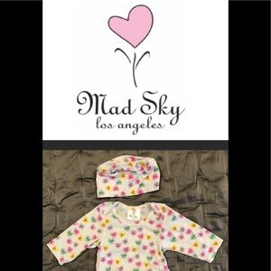 NWT MAD SKY Skirted Onesie w/ Hat 12M